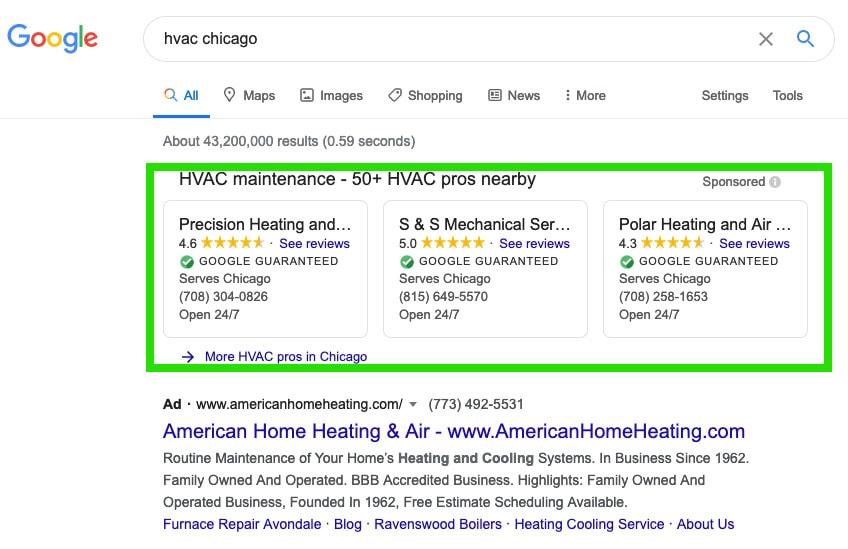 Google Guaranteed for HVAC business