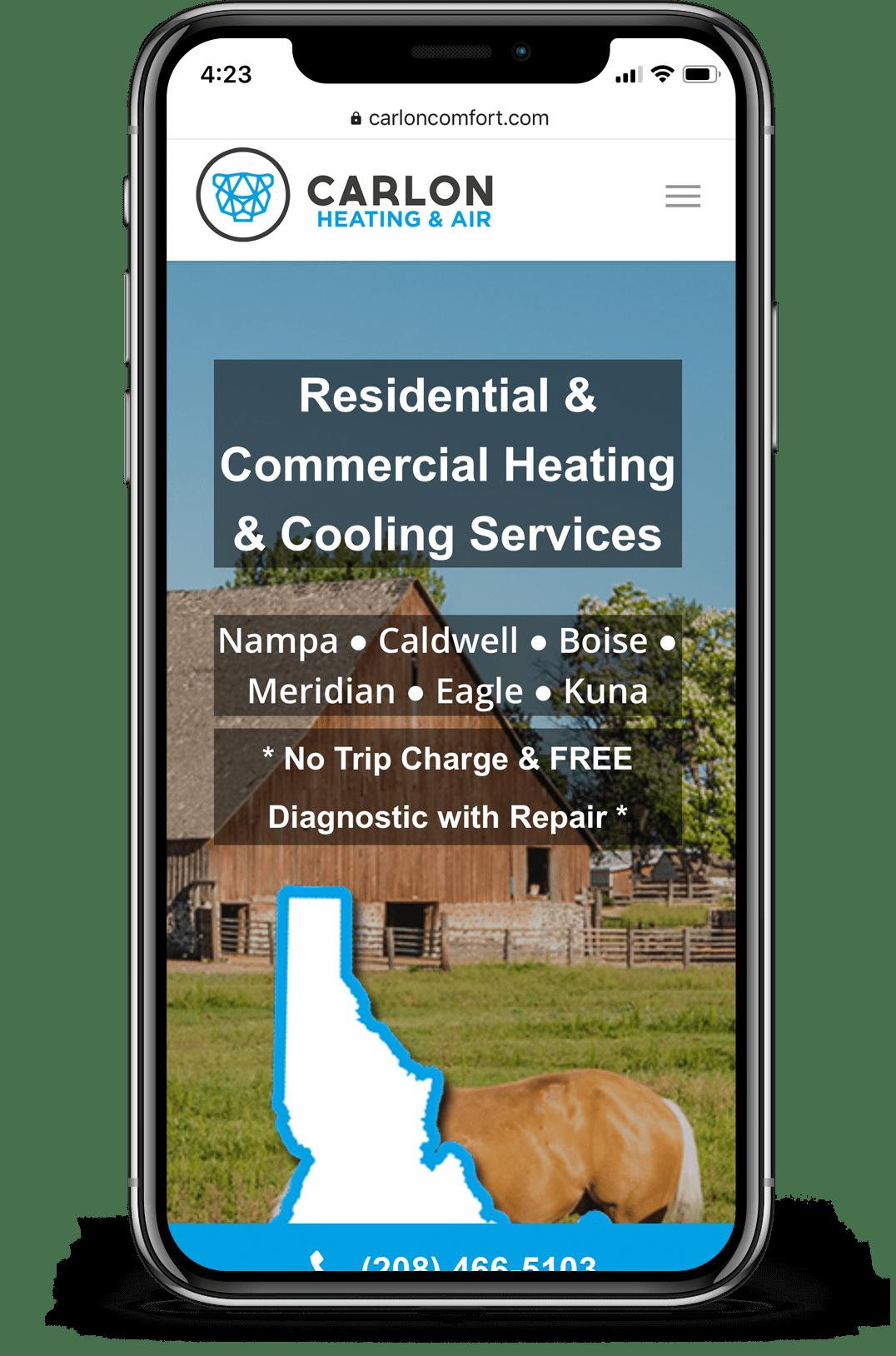 HVAC mobile website