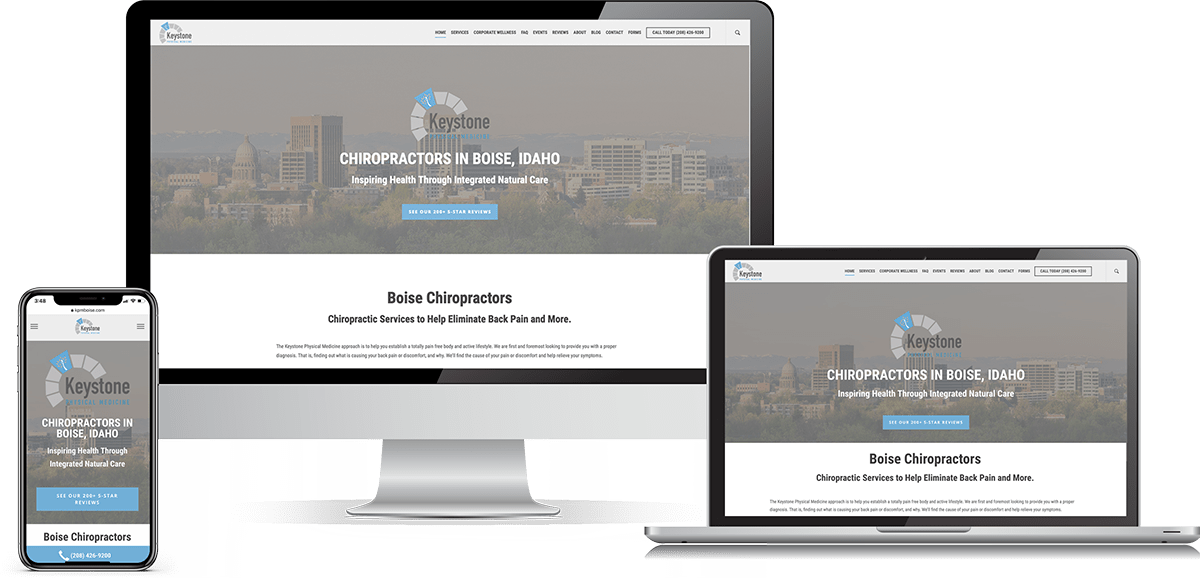 chiropractor websites and web design