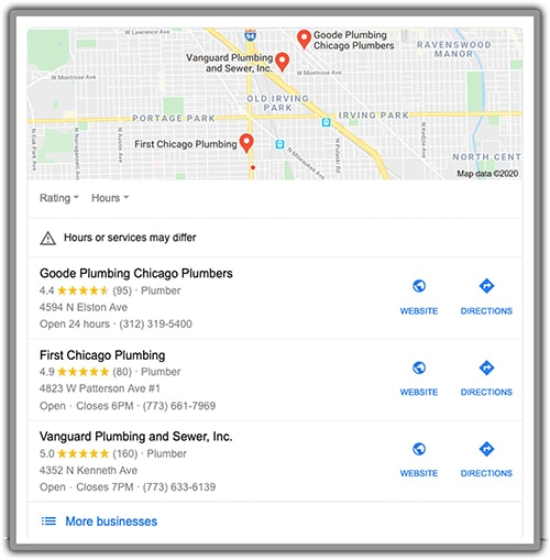 online reviews for plumbers