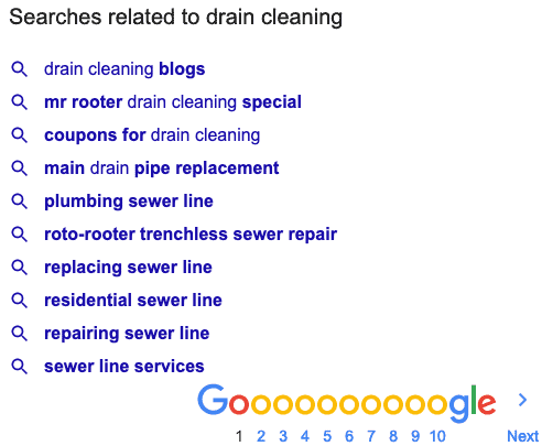 searches related to drain cleaning