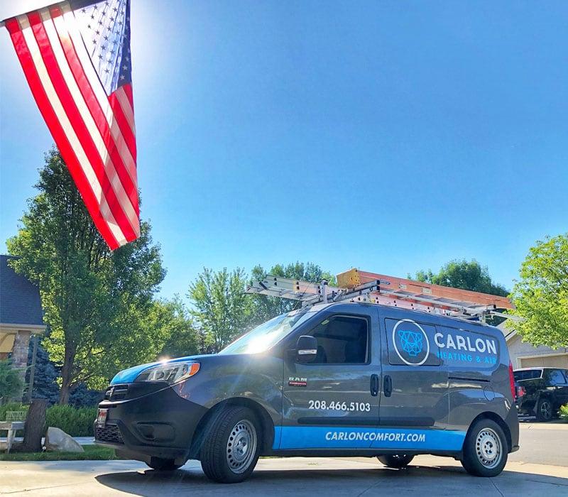 heating and air company van marketing